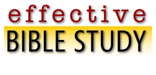 Effective Bible Study